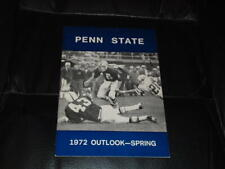 1972 PENN STATE SPRING COLLEGE FOOTBALL MEDIA GUIDE NR MINT BOX 36