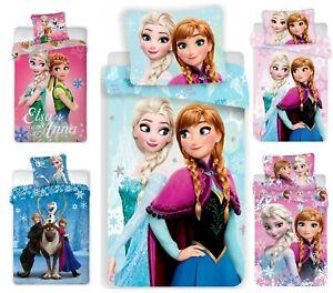 Disney Frozen Kinder Bettwäsche Elsa Anna Eiskönigin 135x200 + 100x135 Baumwolle