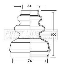 CV Joint Boot Kit FCB2736 First Line C.V. Driveshaft Gaiter 303257 328781 New