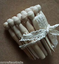 24 x Wooden DOLLY PEGS Washing Clothes Traditional Pegs