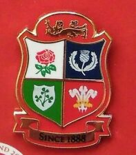 BRITISH AND IRISH LIONS RUGBY UNION SHIELD OFFICIAL PIN BADGE