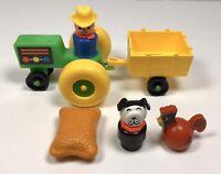 Vintage 1985 Fisher Price Little People FARM FUN #2448 100% Complete Set, No Box