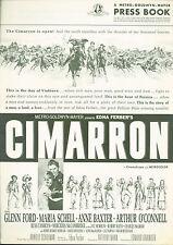 Cimarron (1960) Glenn Ford, Maria Schell, Anne Baxter pressbook
