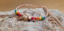 Vintage Sea Turtle Bracelet Handmade Adjustable friendship Hippie Boho Surfer
