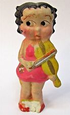 "1930's BETTY BOOP Playing FIDDLE or VIOLIN 3.25"" bisque figure Japan"