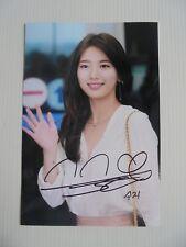 Suzy Bae Miss A 4x6 Photo Korean Actress KPOP autograph signed USA Seller B3