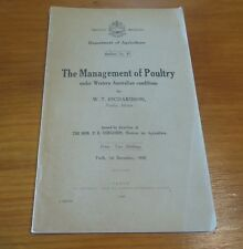 The Management of Poultry under Western Australian conditions - Rare local book