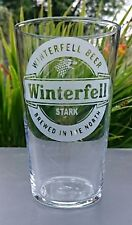 Game of Thrones Winterfell Engraved Pint Glass Stark