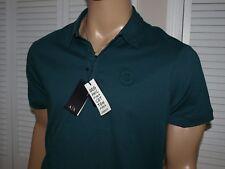 Armani Exchange Auténtico Algodón Orgánico Camisa Polo Logotipo Verde