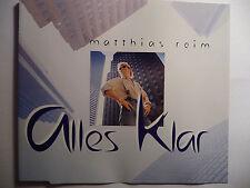 "Matthias Reim  Alles klar Verdammt ich lieb Dich   5"" Promo Maxi - CD  1995  rar"