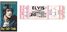 Elvis Presley Original Concert Ticket 9/20/1977 Huntington, West Virginia Mint