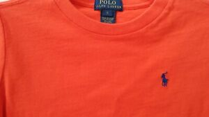New With Tag POLO RALPH LAUREN Boys Short-Sleeve Classic Cotton Tee Shirt Size 5