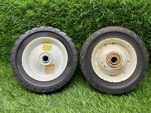 """Vintage Metal Pedal Car Wagon Cart Wheel Tire 6"""" x 1.5""""  Solid new old stock B2"""