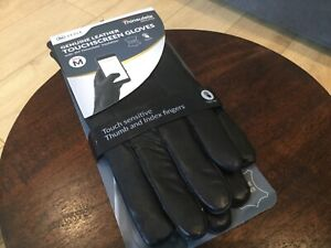 3M Thinsulate touchscreen  genuine black leather gloves medium  mens lined BNWT