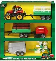 Farm Tractor & Trailer Set