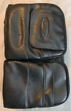 Vtg Case Logic Disc Jewel CD Portable Carrying Case Black Leather With Pouches