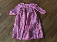 Girls Vive La Fete Red Checks Smocked Dress Size 4