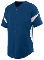 Augusta Sportswear Men's Short Sleeve Polyester Full Button Jersey T-Shirt. 1650