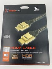 HDMI Cable Premium Certified 12 Feet, 4k Ultra HD High Speed