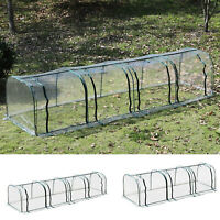 PVC Tunnel Greenhouse Outdoor Warm House Steel Frame Portable