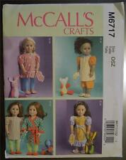 """McCALL'S PATTERN M6717 FOR AMERICAN GIRL OR ANY 18""""DOLL"""