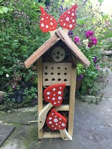Wooden Ladybird Butterfly Bug Box, Insect Bee Hotel
