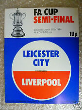 1974 FA Cup Semi Final LEICESTER CITY v LIVERPOOL, 30th March