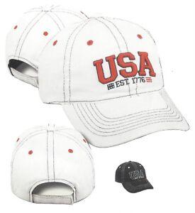 USA American Patriot Unstructured Lightweight Hat Cap