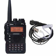 USA Stock UV-8DR Tri-Band 136-174/240-260/400-520mhz Walkie Talkie + Earphone