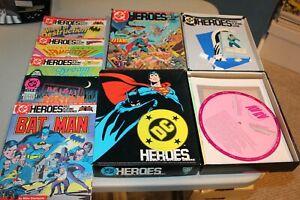 HUGE Lot DC Heroes Mayfair Games 245 1985 1989 boxed sets = 5 modules Batman OOP