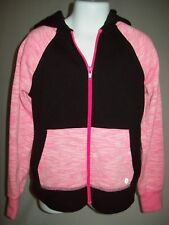 Xersion Girls Jacket Size Size 6 7 Black Pink Athletic Zip Front Back to School
