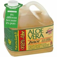 Aloe Vera Juice With 99.8% Aloe Fruit Of The Earth No Sugar 1gal Free Shipping