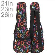 More details for 21 23' 26'' gig bag case for ukulele uke guitar double strap waterproof backpack