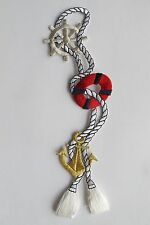 """#3326 7-1/4"""" Nautical Marine Anchor,Wheel,Rope Embroidery Iron On Applique Patch"""