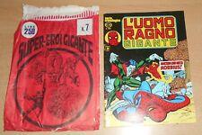 ED.CORNO SERIE L'UOMO RAGNO GIGANTE N° 44 1976 CON BUSTA ORIGINALE APERTA N° 7 !