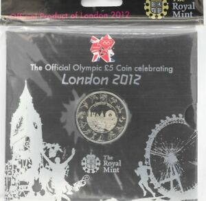 2012 Olympics Official £5 Brilliant Uncirculated Royal Mint Coin
