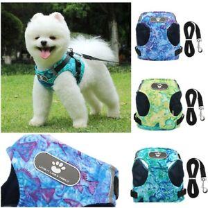 Dog Puppy Harness Adjustable Soft Padded Vest Small Medium Mesh ocean Sea