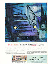 1958 Bank of America 600 Branches - Vintage Advertisement Car Print Ad J483