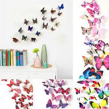 12Pcs Set 3D DIY Butterfly Wall Sticker PVC Art Home Decor Room Decoration TW55