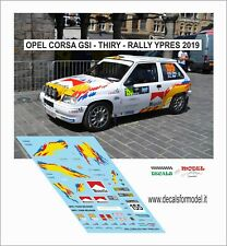 DECALS 1/43 OPEL CORSA GSI THIRY  RALLY YPRES 2019