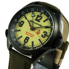 Russian watch auto wather resistand Komandirskie K-34 second time zone #476613