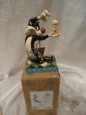 "JIM SHORE LOONEY TUNES Sylvester & Tweety ""I TAWT I TAW A PUDDY CAT"" 4049386 BOX"