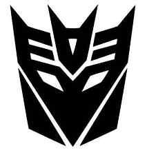 TRANSFORMERS DECEPTICON SCHWARZ GLANZ 2x Aufkleber Sticker Emblem 100x100mm