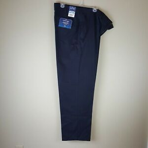 New St. Johns Bay 40 x 32 Worry Free Classic Fit Navy Pants Men's Flat Front