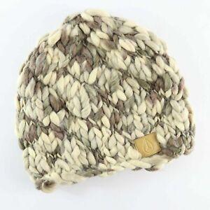 Nixon Slub Yarn Beanie Hat Grey Brown Mix One Size Beanie