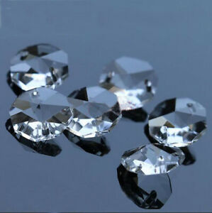 30pcs 14mm Clear Crystal Octagonal beads Decoration Crystal chandelier parts #1