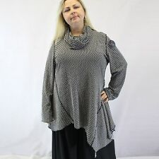 69e4f7bcf72b3 NEW IC Collection Plus Size Reversible Tunic Blouse Scarf Set 1X Made in USA