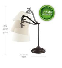 OTT-LITE Alden Table Lamp Bronze