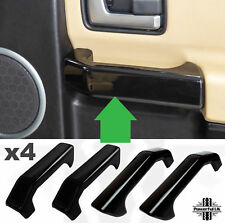 4pc Gloss Black Interior Door card Pull handle Inserts Discovery 3 LR3 HSE set
