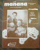 Manana Vintage Sheet Music Peggy Lee 1946